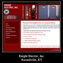 My Web Design Clients: Knight Electric, Inc. Russellville, Kentucky. http://corporate.knightelectric.net/