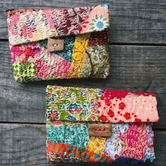 New quilted kantha bag just added!