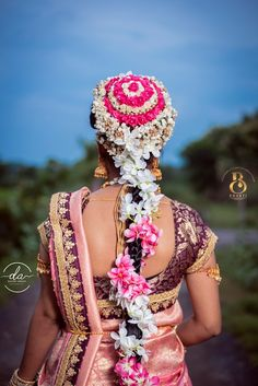 "Photo from album ""South Indian Bride"" posted by photographer Danish Ahmad Bridal Lehenga, Saree Wedding, Wedding Bride, Indian Bridal Hairstyles, Bun Hairstyles, Bridal Hair Buns, Saree Gown, South Indian Bride, Wedding Preparation"