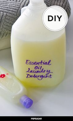 Smell Amazing With Essential Oil Laundry Detergent Take basic DIY laundry detergent to a whole new level by adding your favorite essential oils. Along with cleaning your clothes, the extra boost of scent leaves Essential Oils For Laundry, Doterra Essential Oils, Homemade Cleaning Supplies, Cleaning Recipes, Cleaning Tips, Homemade Products, Handy Gadgets, Diy Savon, Homemade Laundry Detergent