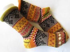- knitted socks in Nordic Fair Isle patterns Colorful socks Gr. - knitted socks in Nordic Fair Isle patterns. Knitting For Charity, Fair Isle Knitting, Knitting Socks, Hand Knitting, Unique Socks, Fair Isle Pattern, Patterned Socks, Colorful Socks, My Socks
