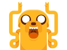 Jake the Dog, Adventure Time artwork by Helbetico. Adventure Time Cartoon, Adventure Time Anime, Cartoon Movies, Cartoon Shows, Cartoon Network, Adveture Time, Land Of Ooo, Dog Icon, Finn The Human