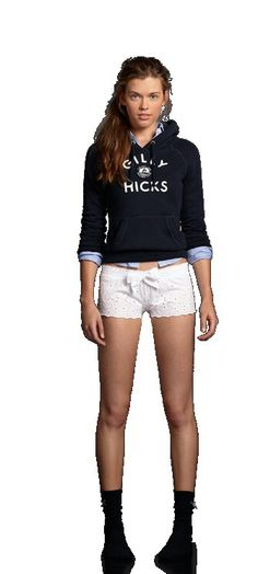 I really love the button down with the Gilly Hicks sweatshirts