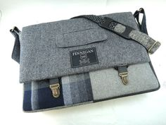 """Messenger Bag, Mens 15"""" Gift for him, Womens laptop Messenger Bag , 15""""  Macbook Pro Laptop Sleeve, tote bag, Upcycled bag by SewMuchStyle on Etsy"""