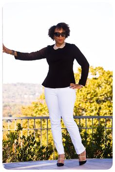 What I'm Wearing | Black & White! | Erica B.'s - D.I.Y. Style!