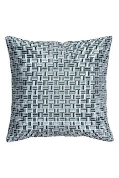 Jacquard-weave cushion cover: Cushion cover with a jacquard-weave pattern and a concealed zip.
