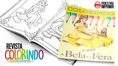 Livrinho para Colorir A Bela e a Fera