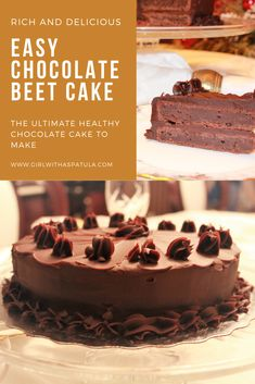 I know, you are going to say what? Healthy and sinful all at the same time. I put my spin on the Chocolate Beet Cake, easy to make. Healthy Dessert Recipes, Easy Desserts, Baking Recipes, Delicious Desserts, Cake Recipes, Chocolate Beet Cake, Healthy Chocolate, Chocolate Desserts, Tall Cakes