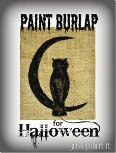 Want a quick, easy, and CUTE Halloween decoration? Try painting some burlap. It's super easy and there's a video to show some tips & tricks too.