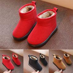 9b01de9f39a1 Unisex Kids Girls Boys Winter Warm Snow Boots Fleece Lined Boots Children  Shoes  fashion