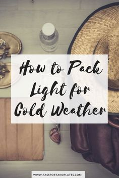 Click to learn how to pack for cold weather in a carry on! | http://passportandplates.com