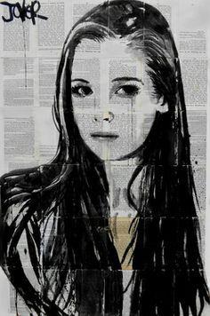 Ink Drawing. Artist Loui Jouver.