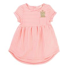 Cat Striped Dress Billieblush Baby- A large selection of Fashion on Smallable, the Family Concept Store - More than 600 brands.