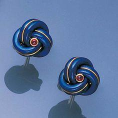 A pair of 18 carat gold and lapis lazuli cufflinks Cartier,