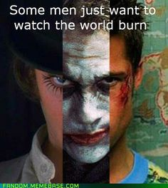 clockwork orange/dark knight/fight club
