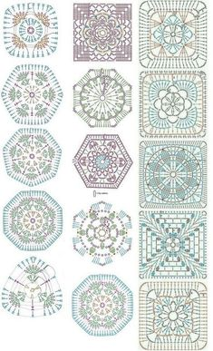 Easy to make crochet granny square pattern. Free crochet chart by Color'n creamColor 'n Cream Crochet and Dream: New Flower Squarecrochê passo a passo ( Crochet Motif Patterns, Granny Square Crochet Pattern, Crochet Blocks, Crochet Diagram, Crochet Chart, Crochet Squares, Crochet Designs, Crochet Granny, Granny Squares