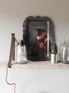 AMBROISE tray by ibride. #home #decoration #ibride #tray #artwork #design #bird #hummingbird #wall #painting #interior #kitchen #tableware (photo @antonnicolai)