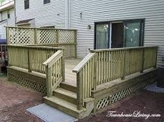 Deck privacy screen get out side pinterest deck for Townhouse deck privacy ideas