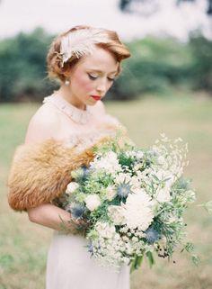 Vintage Bride Make Up & Hair
