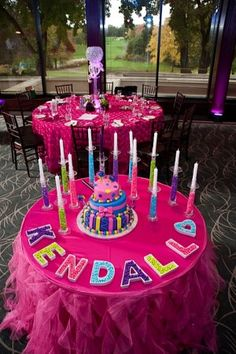 love this way of displaying birthday candles! no more holey cakes!!!!