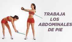 Trabaja los abdominales de pie
