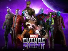 """The Guardians of the Galaxy Come to """"Marvel Future Fight"""" Ms Marvel, Marvel Heroes, Marvel Villains, Marvel Movies, March Of Empires Hack, Marvel Future Fight, Contest Of Champions, Ios, Marvel Cosplay"""