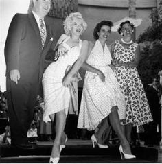 Marilyn Monroe and Jane Russell in sweet and sexy polka dots - Fashion IQ