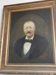 Magnifico dipinto olio su tela raffigurante uomo. Il dipinto, risalente al XIX secolo, riporta la firma Pio Galli.