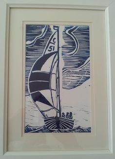 lino print sailing boat - Google Search