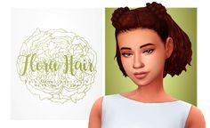 """isjao: """" Flora Hair - cute buns hair. • BGC; • Comes will all EA hair colors; • Hat Compatible; • Credit to @grimcookies for letting me publish this hair using the front part of his """"Belle"""" hair. •..."""