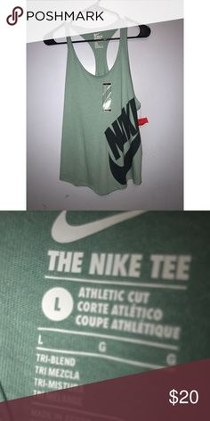 SOLD ON MERCARI🚫 Blue Women's Nike Workout Shirt new!! tag still on.  will consider lowering price upon request , in good shape! comes from a pet free smoke free home ❤ Nike Tops Tank Tops