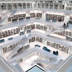 stuttgart modern library, bibliothek i look at this and cant help but think our public facilities are embarrassing at times City Library, Dream Library, Central Library, Future Library, Stuttgart Library, Stuttgart Germany, Beautiful Library, Modern Library, Atrium