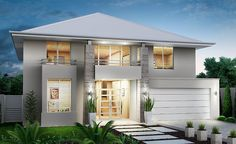 Grandwood Homes - Custom Home Builders Perth Sweet Home Design, Modern Small House Design, Beautiful Home Designs, Exterior House Colors, Exterior Design, Custom Home Builders, Custom Homes, Modern House Facades, Storey Homes