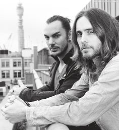 Jared Leto and his greek boyfriend xD I can't forget that! >w< omg