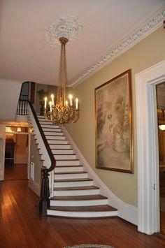 Entry staircase of #Galveston's 1859 Ashton Villa, an island treasure. @GalvHistory #architecture #Victorian