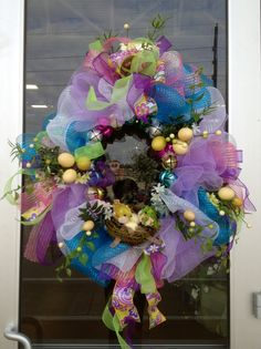 #Easter Deco Mesh Wreath