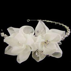 Clementine Pearl & Crystal Bridal Tiara (Silver)