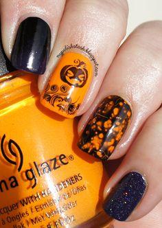 Halloween skittle nails ~ My Polish Stash