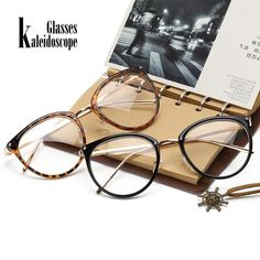 234cb0cd99427 Kaleidoscope Glasses Transparent Women s Frame Degree Eyeglasses Oversized  Cat Eye Glasses Frame 0019  Discounts