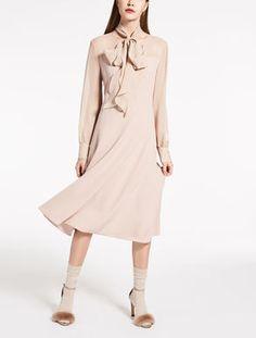 bb87e6b167 Abito in cady e georgette MAX MARA Elegant Dresses For Women