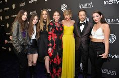Pin for Later: 31 Reasons Taylor Swift Is Having a Ridiculously Awesome Year A Party With the Squad On Jan. 11, Taylor Swift partied with her friends — including Haim, Jaime King, and Lorde — at the Weinstein Company's Golden Globes bash.