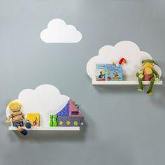 Wandtattoo Wolken für IKEA Bilderleiste - Farbe Weiss-04