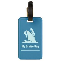 Cruise Ship Teal Bag Tag