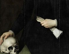 Unknown Flemish artist, Portrait of an elderly lady of the van Heemstra family of Friesland, detail (1617)