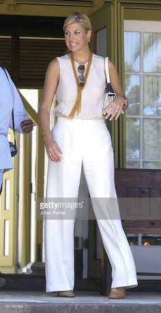 Crown Prince Willem Alexander & Crown Princess Maxima Of Holland Visit St Eustatius,During Their Visit To The Dutch Antilles.The Couple Attended A Cultural Presentation At Fort Orange, Visited A Medical Centre And Watched A Presentation On National Parks .