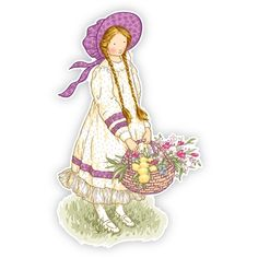 Holly Hobbie Wall Graphics from Walls 360: Holly Hobbie Classic Flower Basket