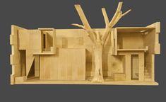 atrium house - india - studio mumbai - sectional model