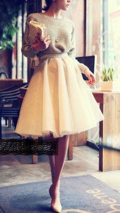 Vintage ~ Tulle skirt