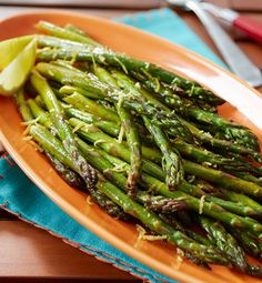 Fresh lemon and taco seasoning give oven-roasted asparagus a light and zesty flavor.