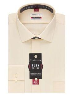 Van Heusen Canvas  ular-Fit Flex Collar Dress Shirt